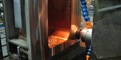 Face Milling of Copper/Steel Weldment